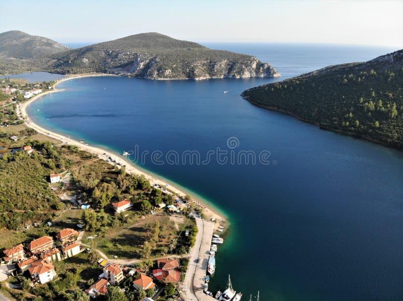 Trzymać na dystans w morzu egejskim, Porto Koufo, Grecja, Khalkidiki obrazy royalty free