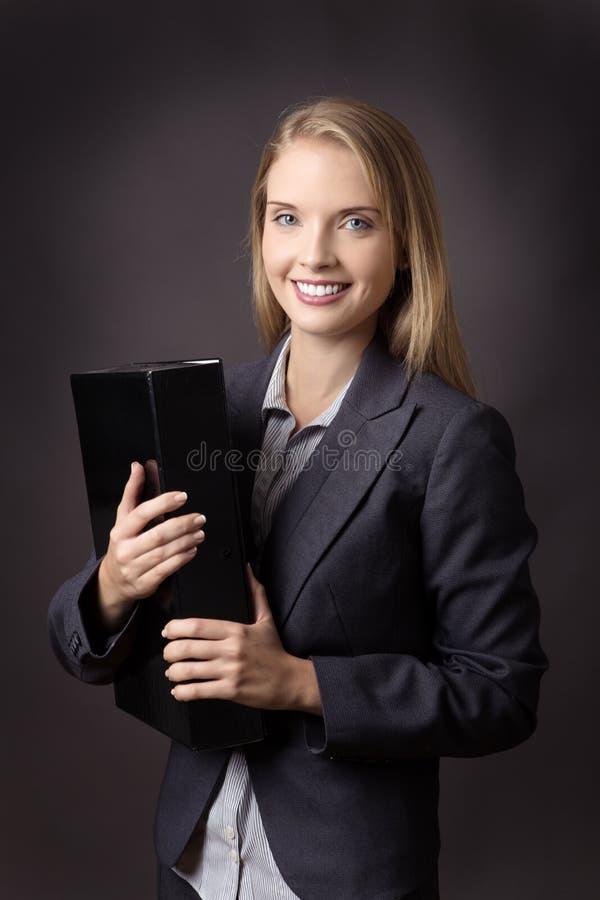 Trzymać pudełkowatą kartotekę obraz royalty free