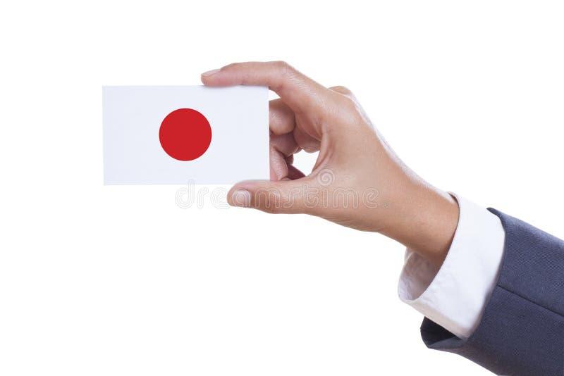 Trzymać wizytówkę zdjęcie royalty free