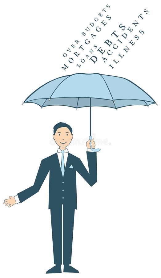 trzymający mężczyzna parasolowy