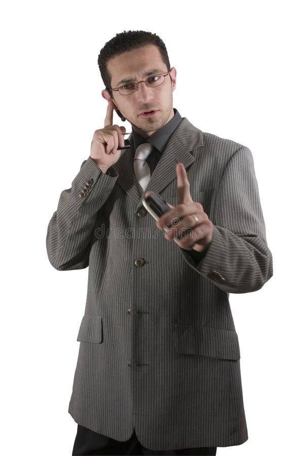 trzymaj to biznesmen pda telefon obrazy royalty free