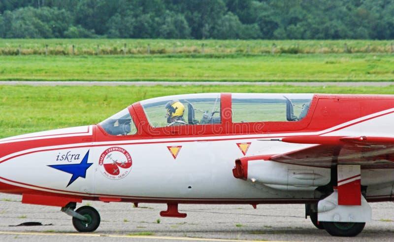 TS-11 Iskra - cabine pilote. images libres de droits
