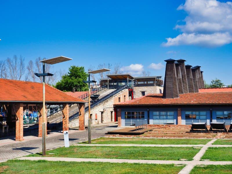 Tsalapatas Brick and Tile Museum, Volos, Greece stock image