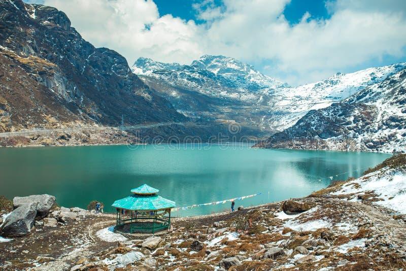 Tsangmo Lake in Sikkim, India.  royalty free stock images