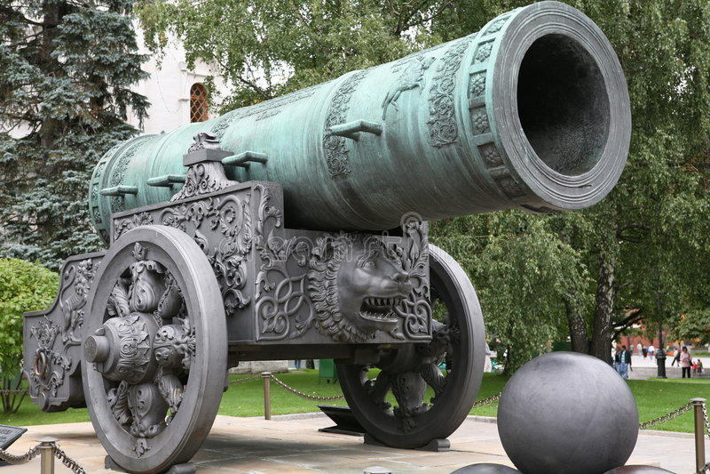 tsar克里姆林宫的pushka 库存照片