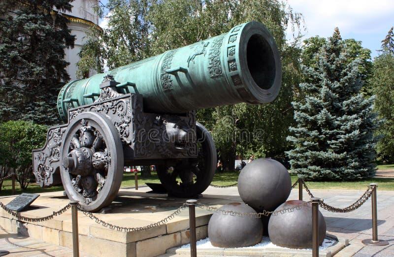 tsar克里姆林宫的pushka 免版税库存图片