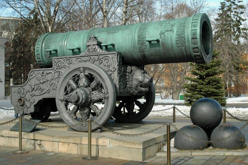Tsar działo, Kremlin, Moskwa, Rosja zdjęcie royalty free