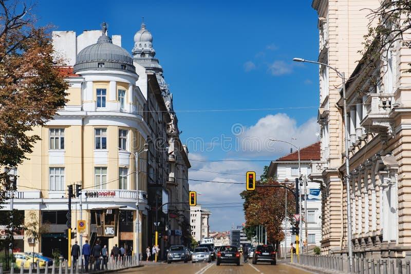 Tsar Osvoboditel bulwar w Sofia, Bułgaria fotografia stock