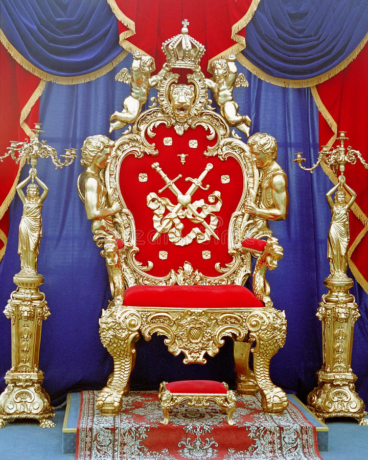 Tsar throne stock photo
