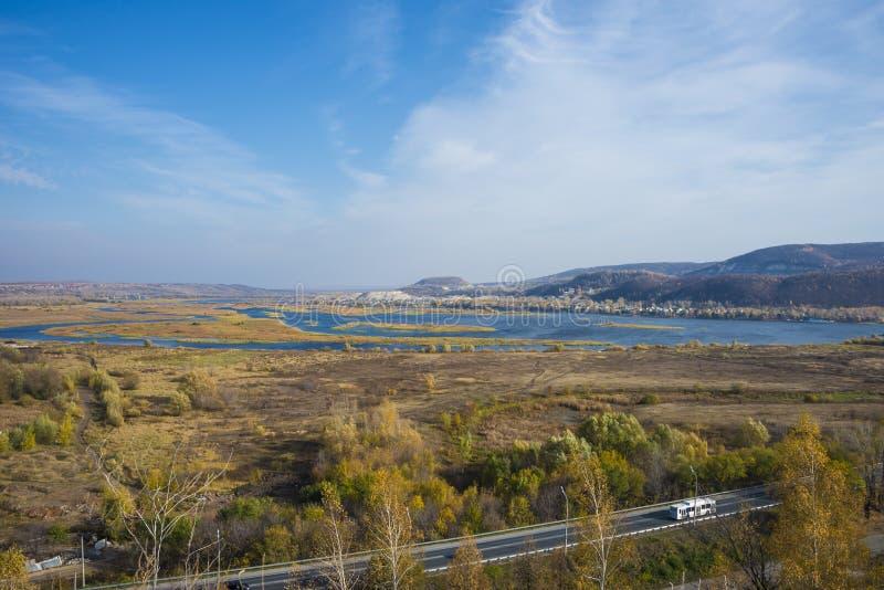 Tsarev kurgan. Attraction of the Samara region. On a Sunny autumn day.  stock image
