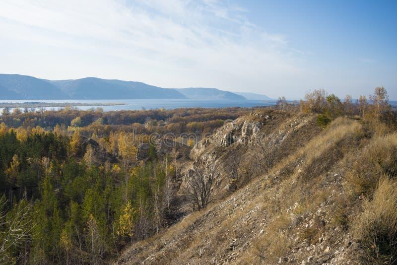 Tsarev kurgan. Attraction of the Samara region. On a Sunny autumn day.  royalty free stock photos