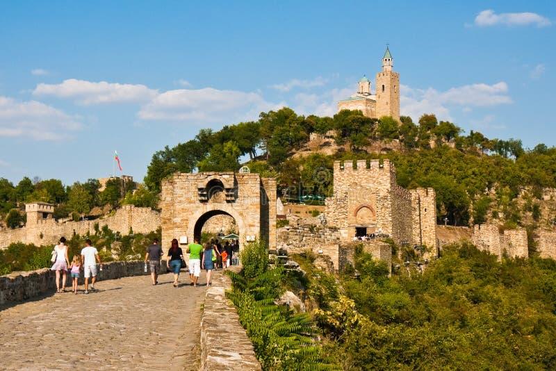 tsarevets крепости стоковое изображение rf