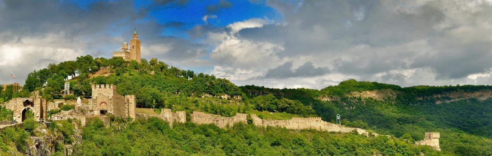 Tsarevets fortress royalty free stock images