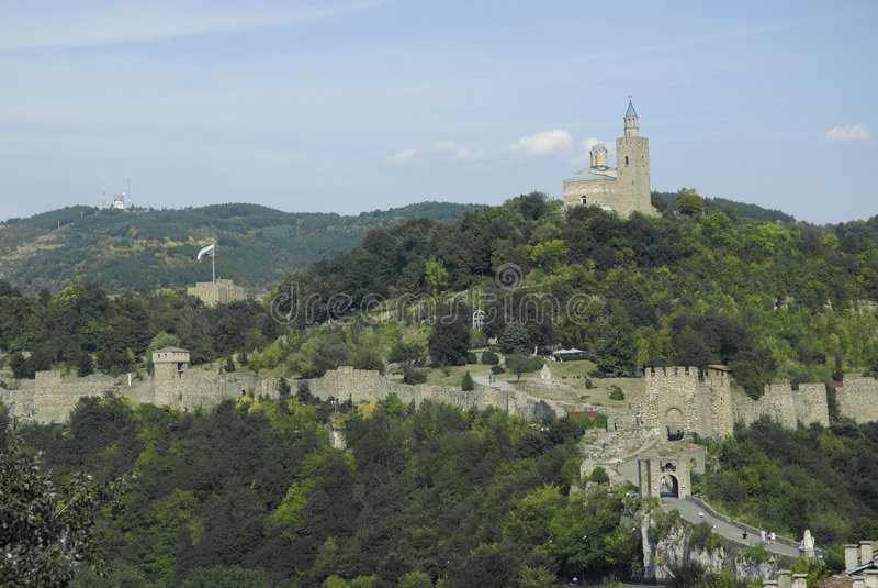 Tsarevets fortress in veliko tarnovo bulgaria stock photography