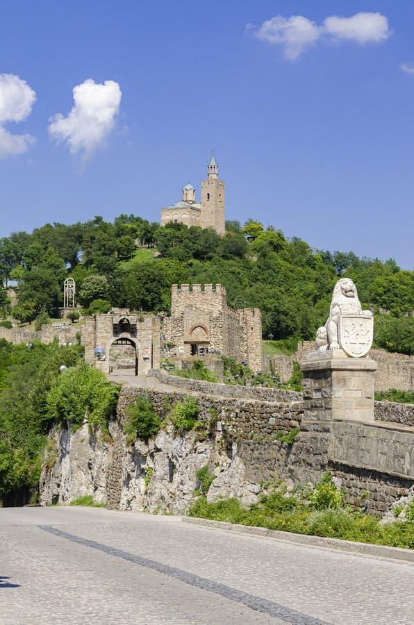Tsarevets Fortress in Veliko Tarnovo stock images