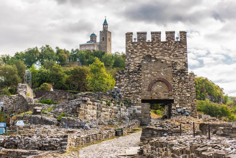 Tsarevets, Veliko Tarnovo, Bulgaria. Tsarevets is a medieval stronghold located on a hill with the same name in Veliko Tarnovo in northern Bulgaria. It served as stock photo