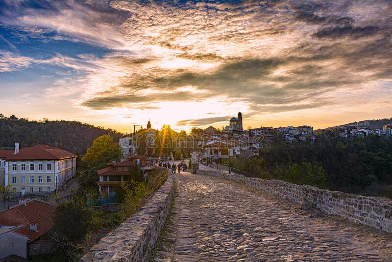 Tsarevets in Veliko Tarnovo stock afbeelding