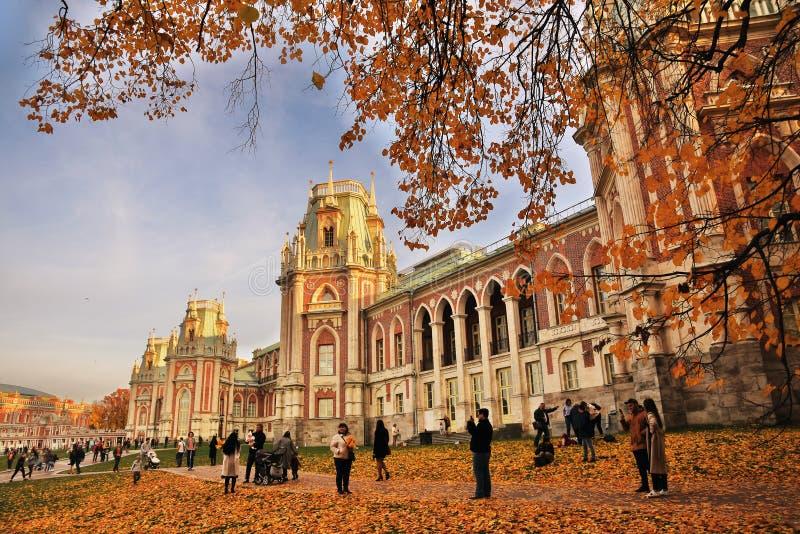 Tsaritsyno公园建筑学在莫斯科 全部宫殿 免版税库存图片