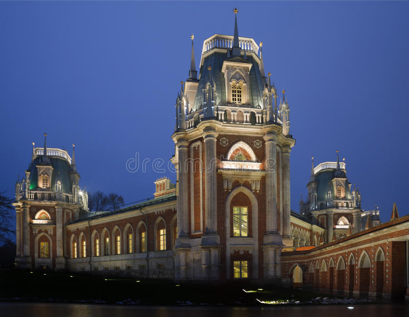 tsaritsyno μουσείων φωτισμού βρα&delt στοκ εικόνες