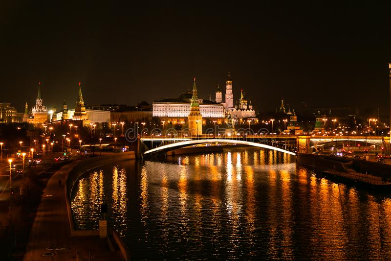 tsaritsyno νύχτας της Μόσχας στοκ εικόνα με δικαίωμα ελεύθερης χρήσης