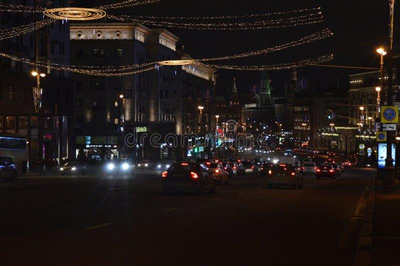 tsaritsyno moscow nocy Tverskaya ulica zdjęcia stock