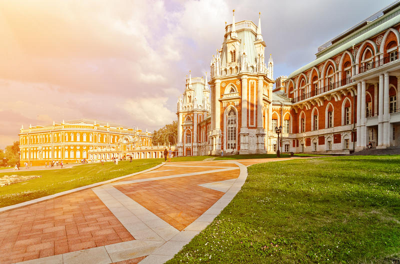 Tsaritsyno palace in Moscow. The palace in Moscow museum-reserve Tsaritsyno, Russia stock photography
