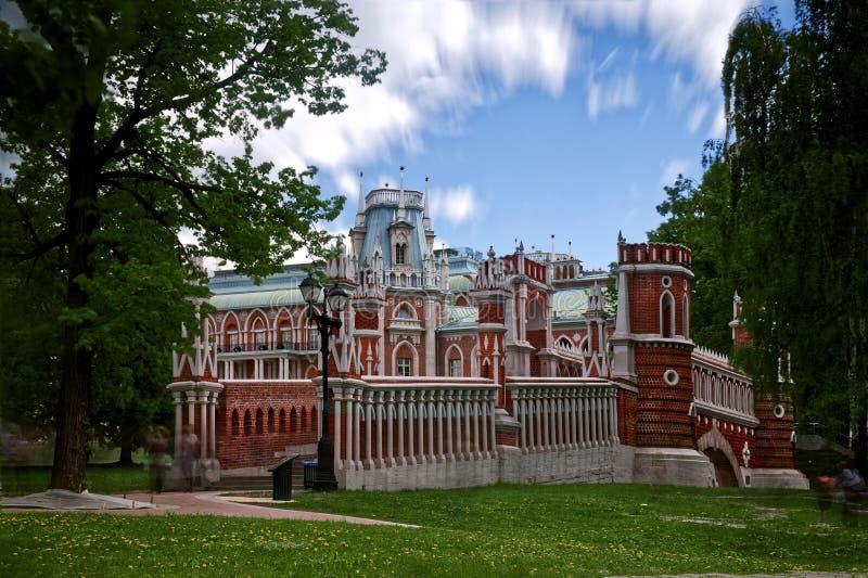 Tsaritsyno-Palast-Park Moskau, Russland 1775 stockfotografie