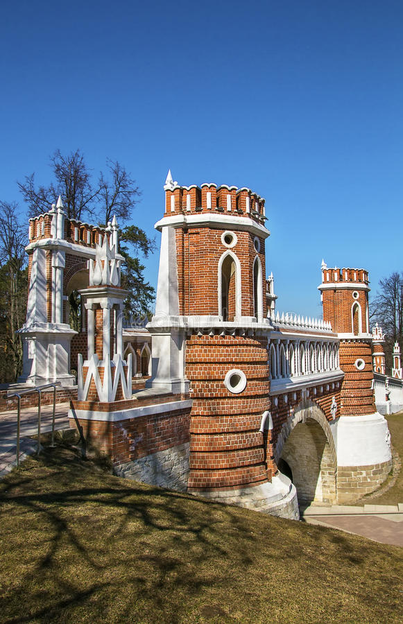 Tsaritsyno Park, Moscow stock images