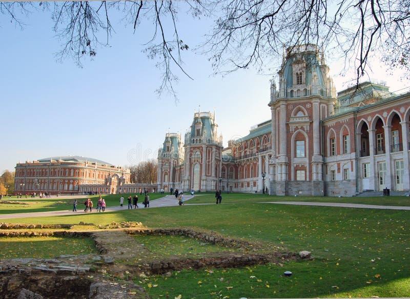 tsaritsynsky arkitekturmoscow park royaltyfria bilder