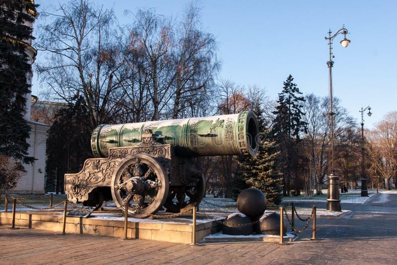 Tsarkanonen i MoskvaKreml royaltyfri bild