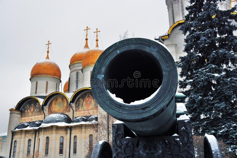 TsarPushka konung Cannon i MoskvaKreml Färgfoto arkivfoto