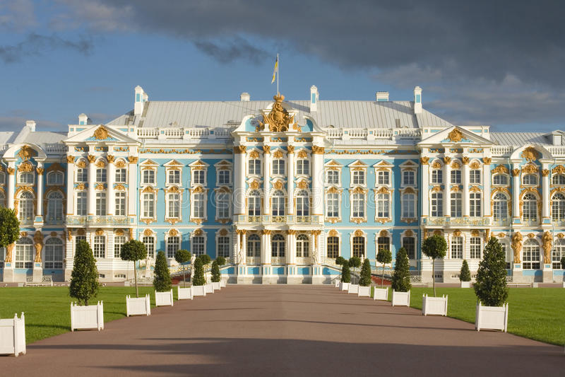 tsarskoe selo России дворца Кэтрины стоковое фото rf