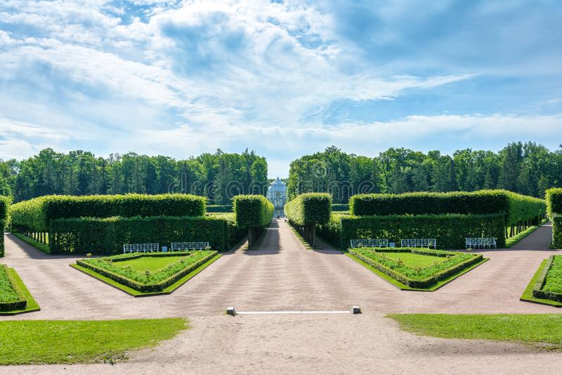 Tsarskoe Selo Museum-reserve in the town of Pushkin royalty free stock photo