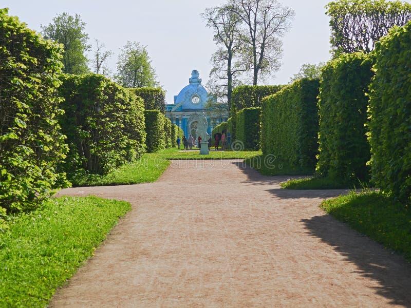 Catherine Park in Pushkin summer stock photo