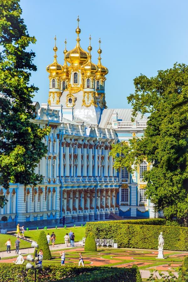 tsarskoe st selo petersburg России дворца Кэтрины стоковая фотография