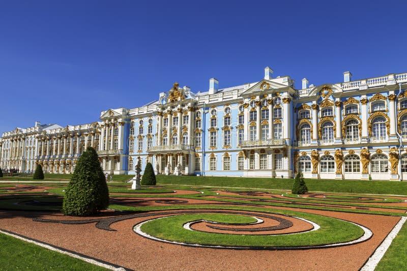 tsarskoe st selo petersburg России дворца Кэтрины Tsarskoye Selo, городок Pushkin Санкт-Петербург, стоковая фотография