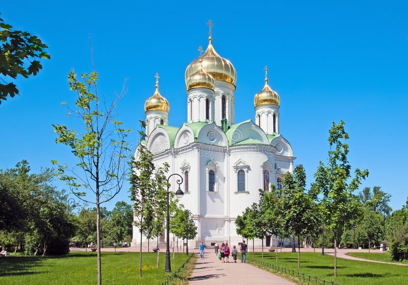 Tsarskoye Selo (普希金),圣彼德堡,俄罗斯 圣凯瑟琳受难者教会  库存图片