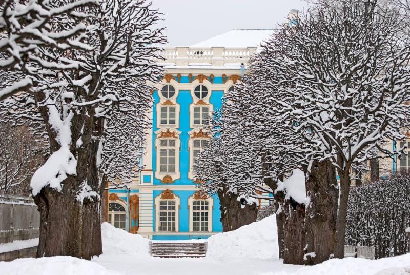 Tsarskoye Selo (Pushkin), Санкт-Петербург, Россия дворец Кэтрины стоковая фотография