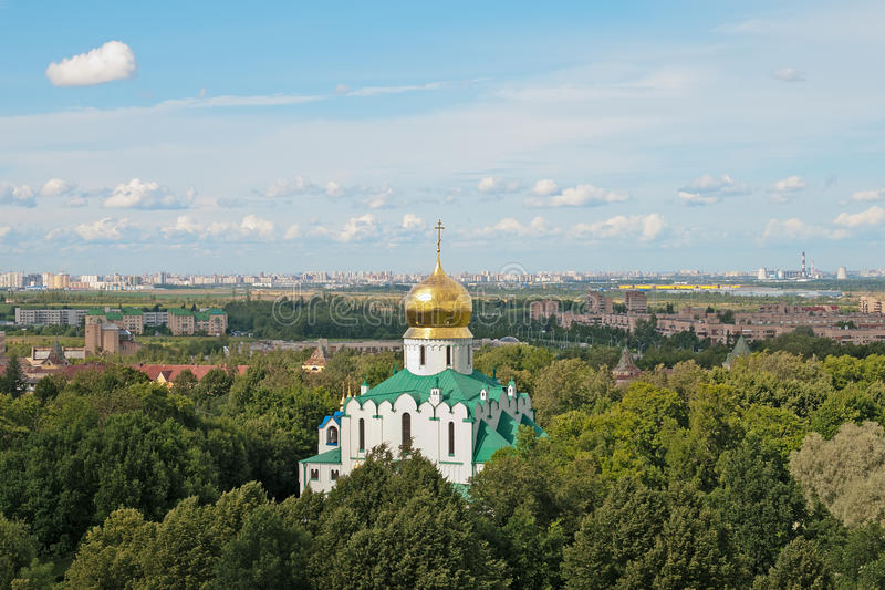 Tsarskoye Selo (Pushkin), Санкт-Петербург, Россия Собор Feodorovsky стоковая фотография rf