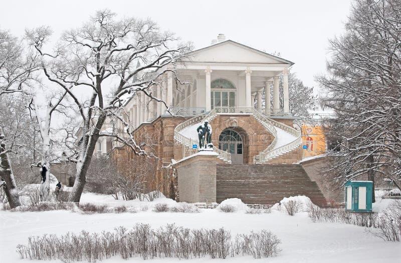 Tsarskoye Selo (Pushkin) St Petersburg, Rússia A galeria de Cameron foto de stock royalty free