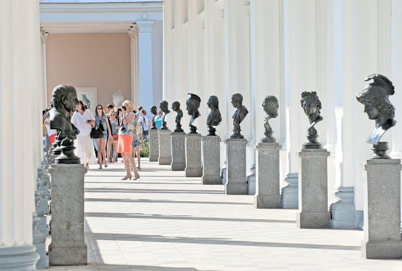Tsarskoye Selo (Pushkin) St Petersburg, Rússia A galeria de Cameron imagens de stock royalty free