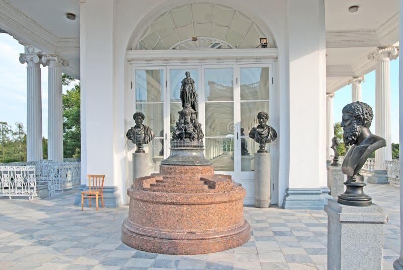 Tsarskoye Selo (Pushkin) St Petersburg Rússia A galeria de Cameron foto de stock royalty free
