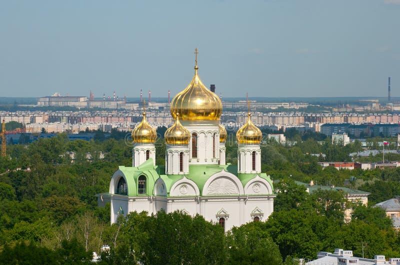 Tsarskoye Selo (Pushkin), St Petersburg, Russia Chiesa del martire della st Catherine fotografia stock libera da diritti