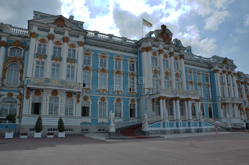Tsarskoye Selo rokokoslott i Ryssland arkivfoto