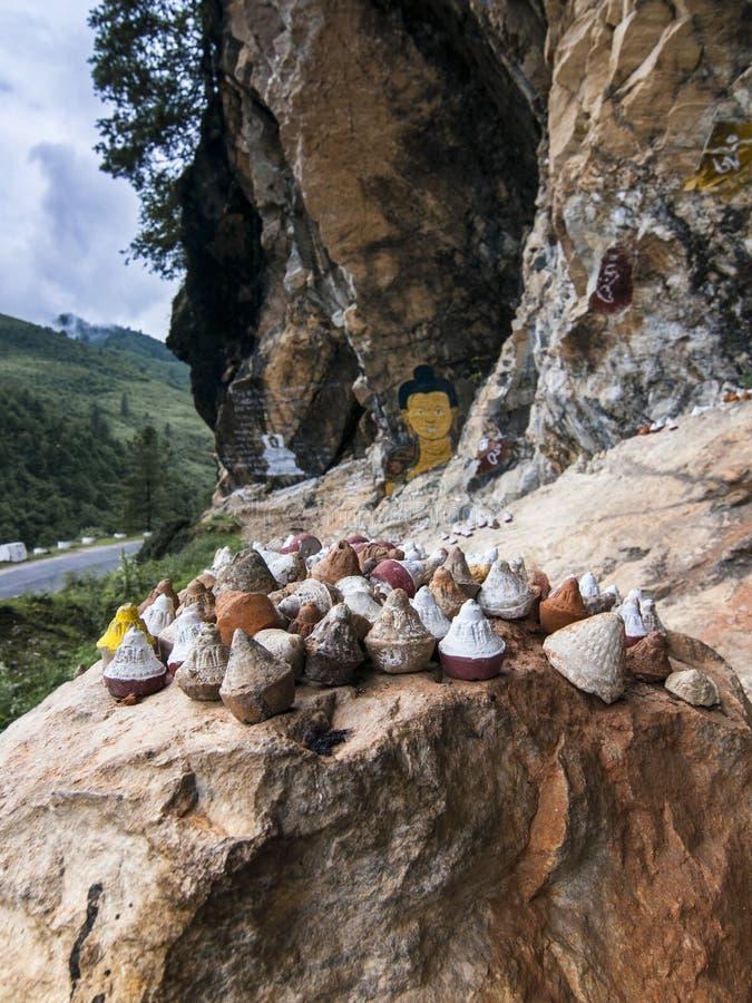 Tsatsa, ícone religioso do budismo butanês tibetano, Butão imagens de stock
