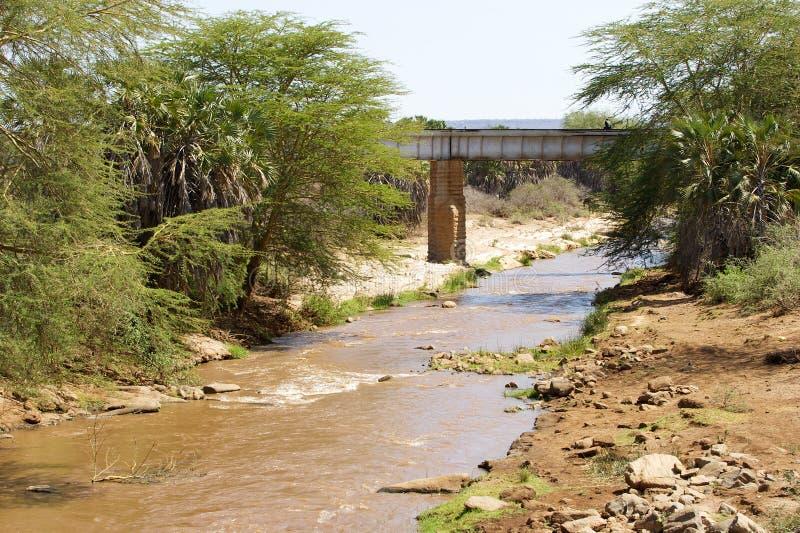 tsavo моста стоковое фото