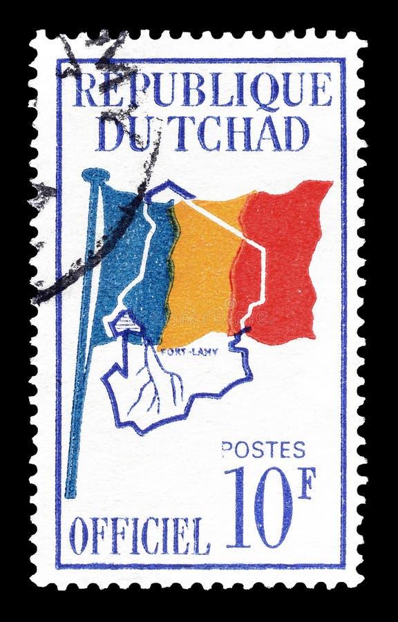 Tschad auf Briefmarken stockfoto