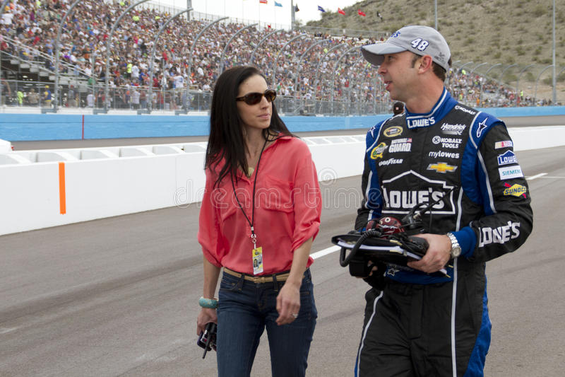 NASCAR sprinten Schalen-Mannschafts-Leiter Tschad Knaus lizenzfreie stockfotografie
