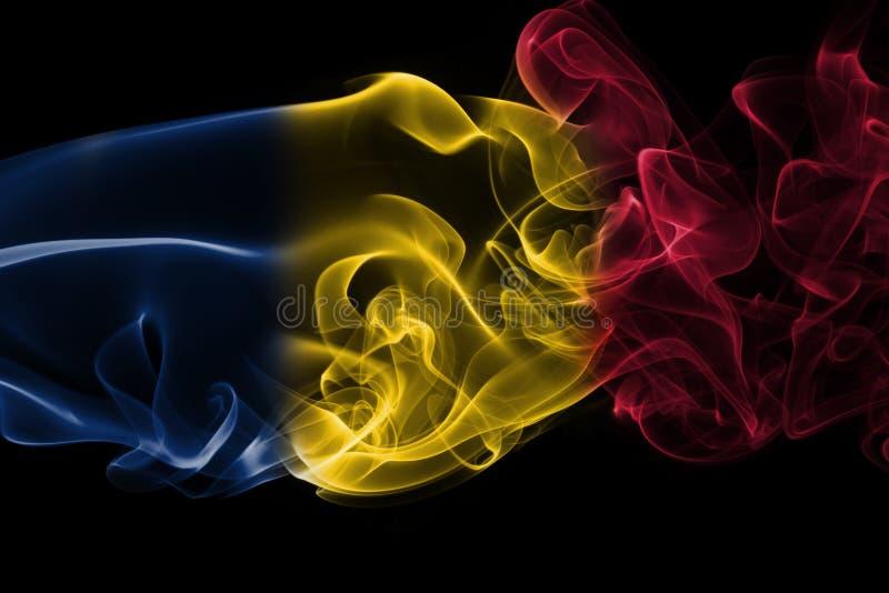 Tschad-Rauchflagge stockfoto
