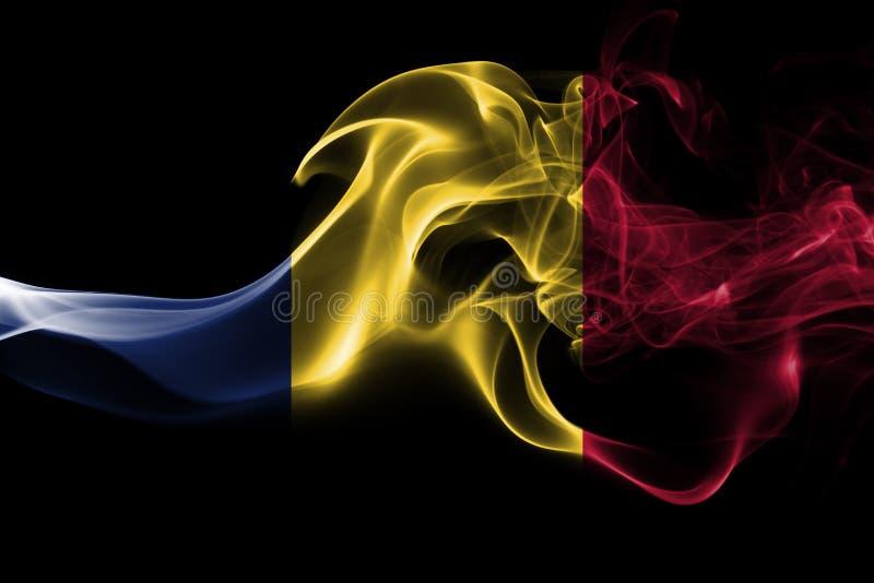 Tschad-Rauchflagge stockbilder